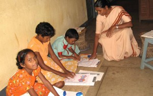 Braille Class at Jeevdan School