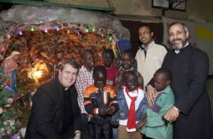 National Director, Father Andrew Small, OMI, met Sudanese children in Egypt on Christmas Eve.