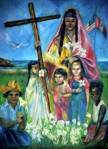 Kateri with Children