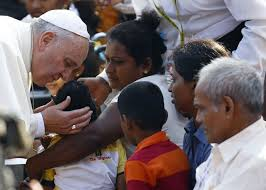Pope Blessing in Sri Lanka