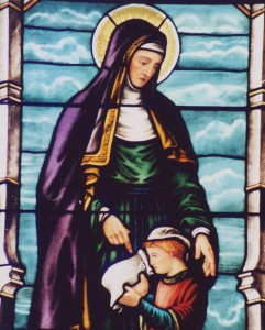 St Monica angry with St. Augustine