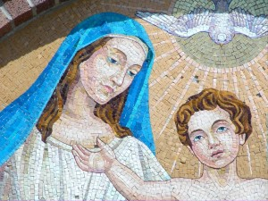 St. Monica with Augustine as Boy Mosaic
