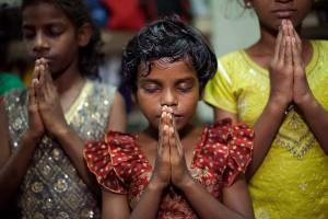 Three Girls Praying Nov