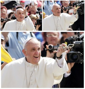 Three Images of Pope with WMR Front Cover