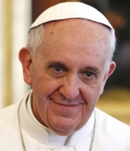 Close up of Pope Francis