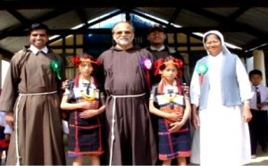 Sister and Priest from Diocese of Kohima
