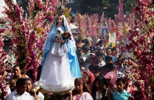 Mary in procession in Ho Chi Minh City, VIetnam